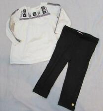 JUICY COUTURE baby girls 18 months black white embroidered boho legging outfit