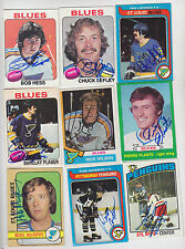 1979-80 TOPPS SIGNED CARD RICK LAPOINTE BLUES RED WINGS FLYERS KINGS # 121