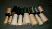 Machine Embroidery Thread Lot 7 Rayon and polyester cones assorted colors