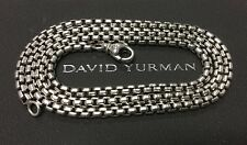 "David Yurman Men's Genuine Sterling Silver Medium Box Chain 22"" 3.6mm Necklace"