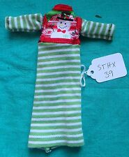 Green & White Knit Christmas Dress with Snowman for Stacie Barbie Doll STHX39