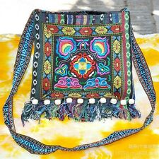 Retro Chinese Hmong Ethnic Thai Shoulder Bag Embroidery Boho Hippie Ethnic Bag