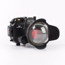 Canon 70D 18-135mm 40M Underwater Housing Case +  Wide Angle Dome Port lens
