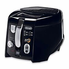 Black Adjustable Thermostat Dishwasher Safe Nonstick Rotating Basket Deep Fryer