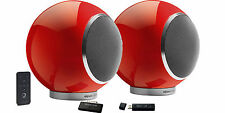 ELIPSON PLANET LW PAIRE D'ENCEINTES ROUGE 2.0 COMME NEUVES /PAIR SPEAKERS AS NEW