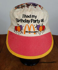 Vintage Mcdonalds Birthday Painters Hat Cap Cartoon 80s 90s Retro Party