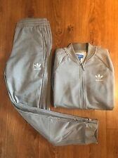 Grey adidas Originals Tracksuit. GREAT condition Size Small.