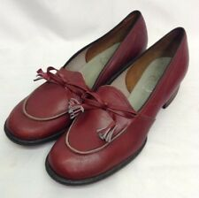 40s 'Town Walkers by Selby' Original Cherry Red Shoes with Tassel and Bow Trim.