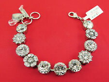 MARIANA MOSAIC SILVER BRACELET On a Clear Day with Large Swarovski Crystal