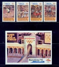 antigua/1992 barcelona olympic games 4s+s/s /mnh.good condition