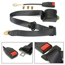 3 Point Retractable Car Seat Belt Universal Bolt Extension Safety Strap Buckle