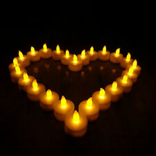 24pcs Candles Tealight LED Tea Light Flameless Battery Wedding Amber