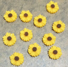 20 pcs Yellow FlatBack Resin Sunflower DIY mobile phone case decoration cosmetic