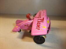 altes Blechspielzeug Antikspielzeug Spielzeug Flugzeug mit Pilot Made in China
