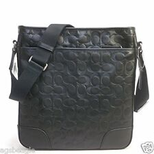 Coach Bag F71212 Heritage Leather Embossed C Zip Top Crossbody Black #COD Paypal