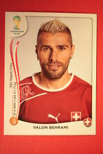 Panini BRASIL 2014 N. 347 BEHRAMI SWITZERLAND WITH BLACK BACK TOPMINT!!