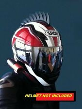 motorcycle helmet mohawk warhawk STICK ON dirt bike SAWBLADE PLUS FREE SHARK FIN