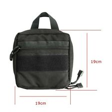 Outdoor Tactical Molle Military Digital Camera Organize Pouch Bag Black  Fine
