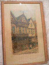 William Monk (1863-1937) Lithograph. Bishop Lloyd's Palace. Chester.