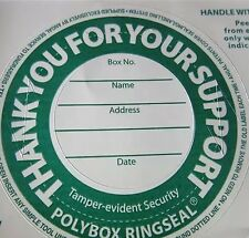 Green Coloured Security Labels for Charity Collection Box Pack Of 12