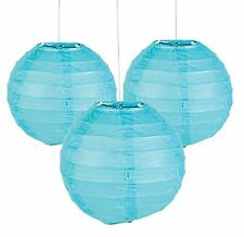 12 Light Blue Paper Chinese Lanterns centerpieces Wedding Party Decorations