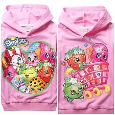 New  Kids Girls Long Sleeve Hoodies Everyday Shopkins Clothes 4-10 Years