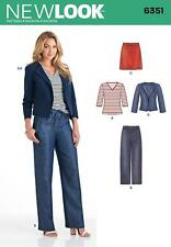 NEW LOOK Sewing Pattern Misses Ladies Plus Jacket+Top+Skirt+Pants Sz 10-22 ~6351