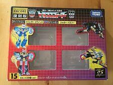 Transformers G1 2003 reissue CASSETTE EMPTY BOX + bubble encore 15