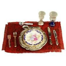 DOLLHOUSE Blue Royale Dinner Setting 13738 Reutter Porcelain 1:12 Miniature