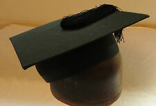 Original Vintage Fixed Mortar Board Graduation Hat University Cap Medium (3475