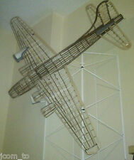 Guillows B-17 balsa model airplane (add gas motors, can be made RC no plans)