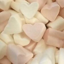 1KG Sealed Bag MARSHMALLOW HEARTS Wedding Hen Do Candy Bar Sweets Favours Party