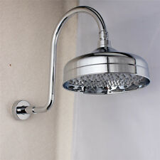 "Wall Mounted Round 8"" Rainfall Top Shower Head with 35cm Gooseneck Arm"