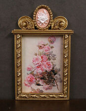 CAMEO  FRAME - with  PICTURE - Jim Coates ~ Dollhouse ~ 1:12 scale ~ Room Box
