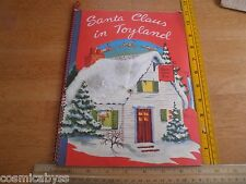 Santa Claus in Toyland 1951 action pop-up book Harry Doehla Co.