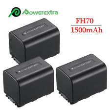 3 x Battery For Sony HandyCam NP-FH70 DCR-DVD108 DCR-DVD910 HDR-XR520V DCR-SR200