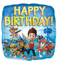 Paw Patrol Happy Birthday Foil Balloon Boys Birthday Decoration Party Supply~17""
