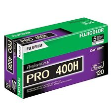 5 Rolls Fuji Color Pro 400H ISO 400 120 Color Negative Film, 8/2018 (NPH-120)