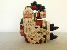 SIGNED 1997 David Frykman Portfolio Santa Music Box #66850   (#C-L4)
