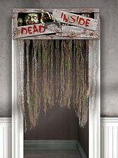 Halloween Door Curtain Decoration Hanging Prop Horror Party ZOMBIE Dead Inside