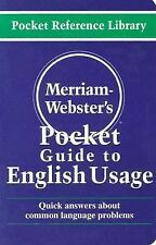 Merriam-Webster's Pocket Guide to English Usage
