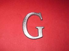Cast Aluminum Metal Letter G 1 1/4 Roman Font