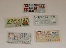 Lot of 5 Unused Nascar Model Car Kit DECALS  R8145