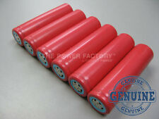 6 Genuine Sanyo UR18650FM 18650 2600mAh 3.7v Flat Top Li-Ion Battery