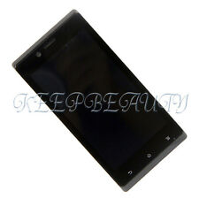 New Touch Digitizer+LCD Display&Frame Assembly For Sony Xperia J ST26 ST26i &TN