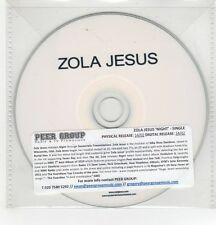(GH267) Zola Jesus, Night - DJ CD