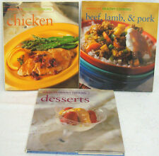 America's Healthy Cooking- Chicken-Beef, Lamb, & Pork-Desserts-Lot of 3