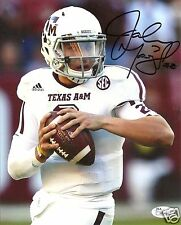 JOHNNY MANZIEL TEXAS A&M AGGIES SIGNED 8X10 PHOTO W/JSA COA #11