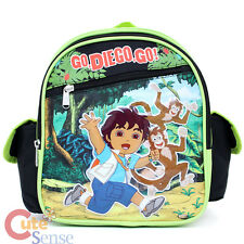 "Go Diego Go Toddler School Backpack 10"" Small Bag with Monkey"