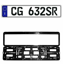 New Italian Italy EEC European Front License Plate (Random) & Mounting Frame